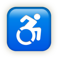 Emoji icon of disability.