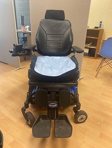 Photo of a power chair.